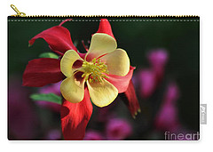 Yellow And Red Columbine Carry-all Pouch