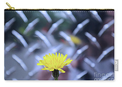 Yellow And Silver Carry-all Pouch