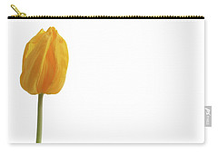 Carry-all Pouch featuring the photograph Yellow And Tulip by Marie Leslie