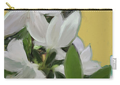 Yellow And White Flower Art 1  Carry-all Pouch