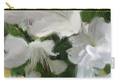 Yellow And White Flower Art 2 Carry-all Pouch