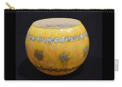 Yellow And White Vase Carry-all Pouch
