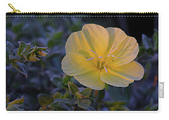 Carry-all Pouch featuring the photograph Yellow Beach Evening Primrose by Marie Hicks