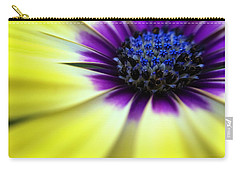 Yellow Beauty With A Hint Of Blue And Purple Carry-all Pouch