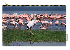 Yellow Billed Stork Carry-all Pouch by Aidan Moran