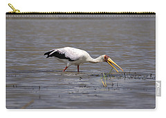 Yellow Billed Stork Wading In The Shallows Carry-all Pouch by Aidan Moran