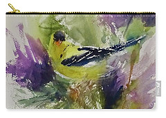 Yellow Bird In The Thistles Carry-all Pouch