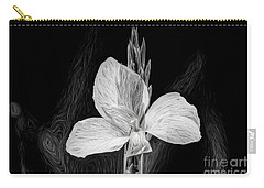 Yellow Black And White Carry-all Pouch