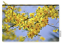 Yellow Blossoms Carry-all Pouch by Gandz Photography