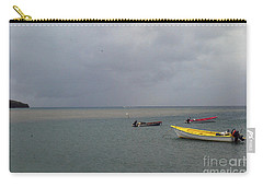 Carry-all Pouch featuring the photograph Yellow Boat by Gary Wonning