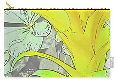 Yellow Bromeliad Flower Carry-all Pouch by Tony Grider