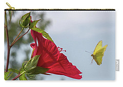 Yellow Butterfly Art Carry-all Pouch