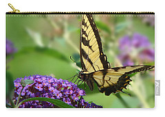 Yellow Butterfly On Purple Carry-all Pouch