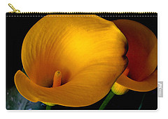 Yellow Calla Lilies - 02 Carry-all Pouch by Tony Grider