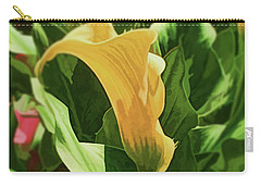 Yellow Calla Lilly Carry-all Pouch by Luther Fine Art