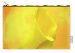 Yellow Calla Lily Carry-all Pouch by Cyndy Doty