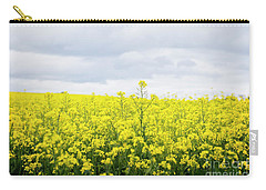 Carry-all Pouch featuring the photograph Yellow Canopies by Ivy Ho