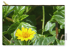 Yellow Caribbean Flower Carry-all Pouch by Margaret Brooks