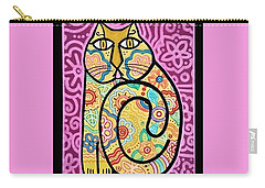 Yellow Cat Carry-all Pouch by Jim Harris