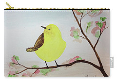 Yellow Chickadee On A Branch Carry-all Pouch