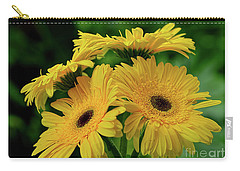 Carry-all Pouch featuring the photograph Yellow Chrysanthemums By Kaye Menner by Kaye Menner