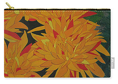 Carry-all Pouch featuring the painting Yellow Chrysanthemums by Hilda and Jose Garrancho