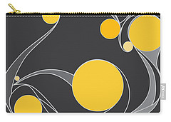 Yellow Circles Abstract Design Carry-all Pouch