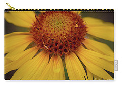 Yellow Cone Flower Carry-all Pouch by John Roberts
