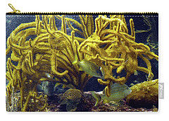 Carry-all Pouch featuring the photograph Yellow Coral Dance by Francesca Mackenney