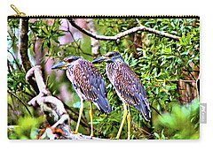 Yellow Crested Night Herons Carry-all Pouch by James Potts