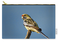 Yellow Crimson Rosella Carry-all Pouch by Douglas Barnard