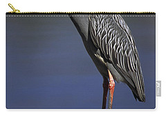 Yellow-crowned Night Heron Carry-all Pouch by Sally Weigand