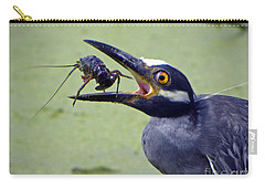 Carry-all Pouch featuring the photograph Yellow Crowned Night Heron  by Savannah Gibbs