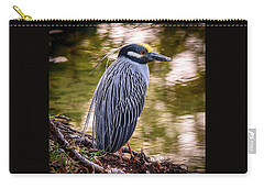 Carry-all Pouch featuring the photograph Yellow-crowned Night-heron by Steven Sparks