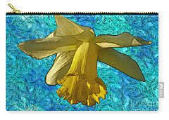 Carry-all Pouch featuring the photograph Yellow Daffodil 3 by Jean Bernard Roussilhe