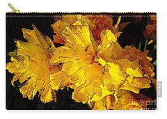 Carry-all Pouch featuring the photograph Yellow Daffodils 4 by Jean Bernard Roussilhe