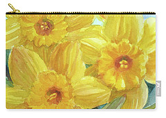 Yellow Daffodils Carry-all Pouch by Janet Zeh
