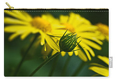Yellow Daisy Bud Carry-all Pouch