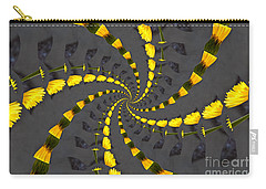 Yellow Daisy Spin Wheel  Carry-all Pouch
