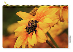 Carry-all Pouch featuring the photograph Yellow Dark by Mary Jo Allen