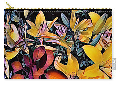 Carry-all Pouch featuring the photograph Yellow Daylilies by Kathie Chicoine