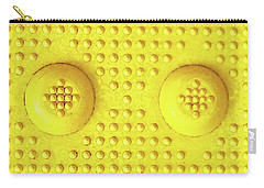 Yellow Dot Industrial Portrait Carry-all Pouch by Tony Grider