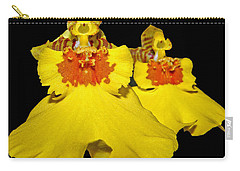 Carry-all Pouch featuring the photograph Yellow Dresses by Judy Vincent