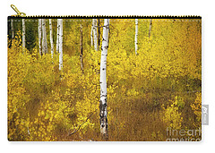Carry-all Pouch featuring the photograph Yellow Fall Aspen by Craig J Satterlee