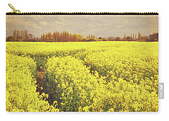 Yellow Field Carry-all Pouch by Lyn Randle
