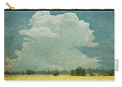 Yellow Field On Old Grunge Paper Carry-all Pouch