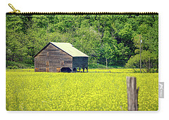 Yellow Field Rustic Shed Carry-all Pouch