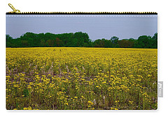 Yellow Field Carry-all Pouch by Tim Good