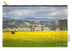 Yellow Fields Along The Eel River Carry-all Pouch