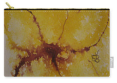 Yellow Flower Carry-all Pouch by AJ Brown